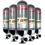 Scott CYL-FWC379-75M 9.5 litre 379bar carbon fibre cylinder