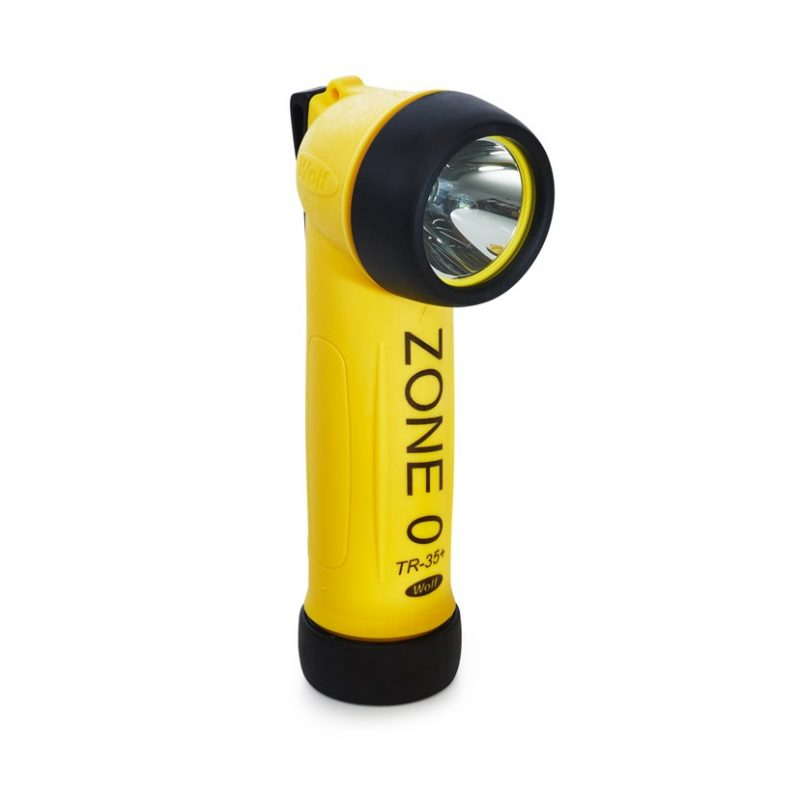 Wolf Safety TR-35+ ATEX LED Right Angled Torch