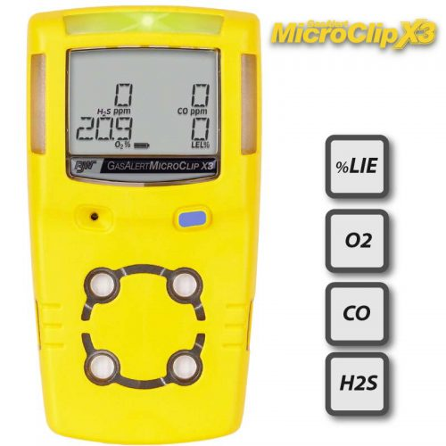 BW GasAlertMicroClip X3 Multi Gas Monitor