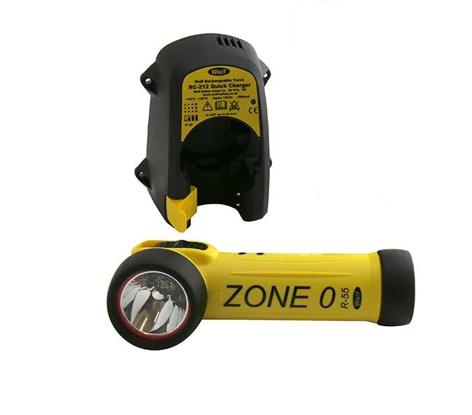 Wolf Safety R-55H LED ATEX Rechargeable Right Angled Torch