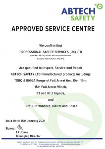 Abtech Safety Authorised Service Centre