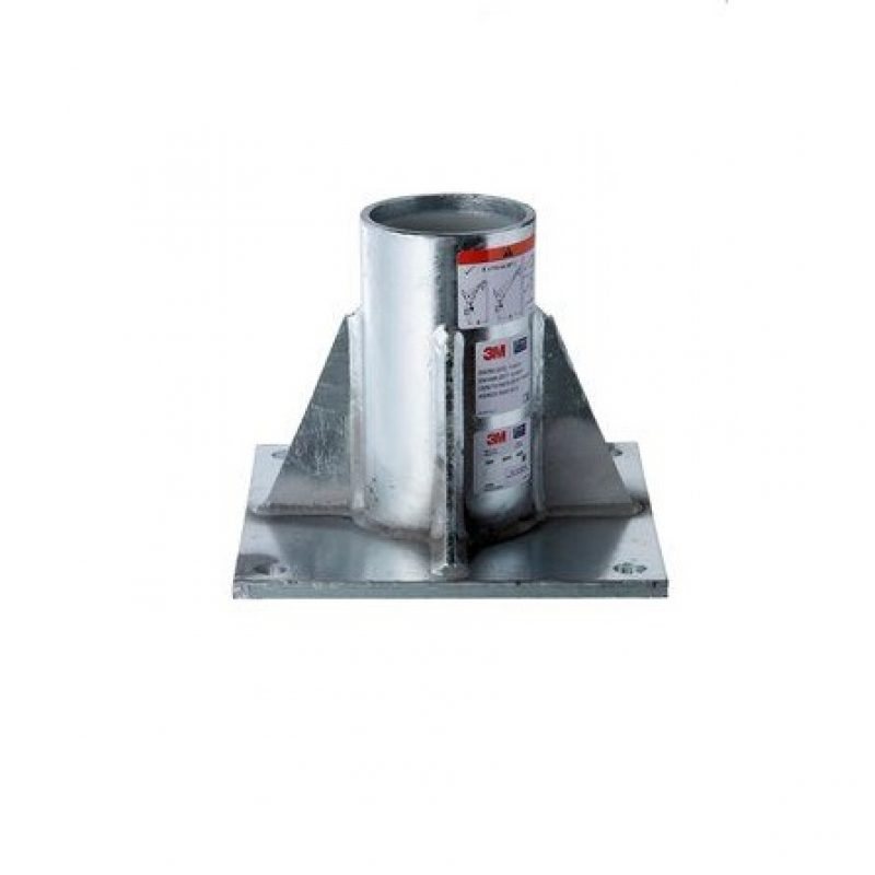 3M DBI-SALA HC Galvanised Steel Floor Mount Davit Base
