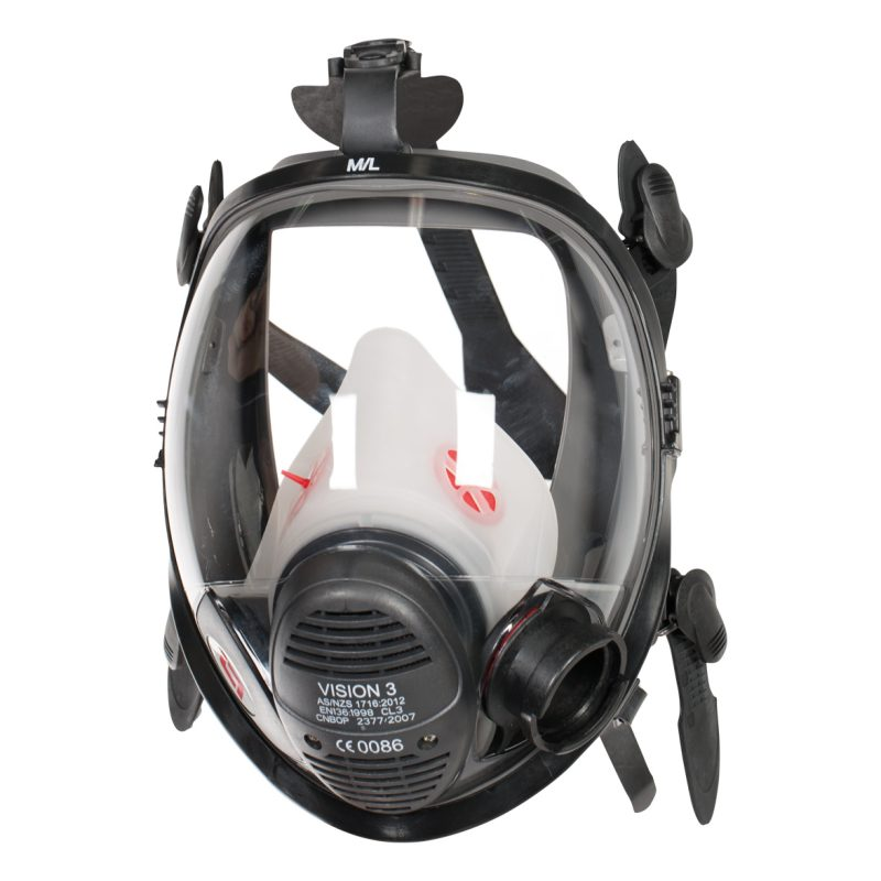 3M Scott Vision 3 LQF Medium Rubber Positive Pressure Facemask