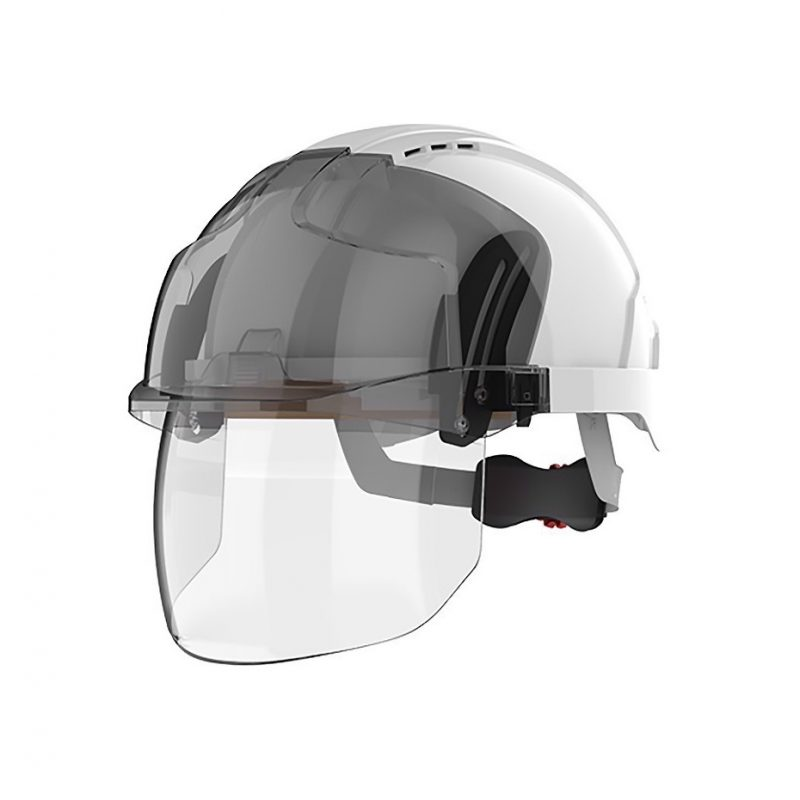 JSP EVO VISTAshield White-Smoke Vented Helmet
