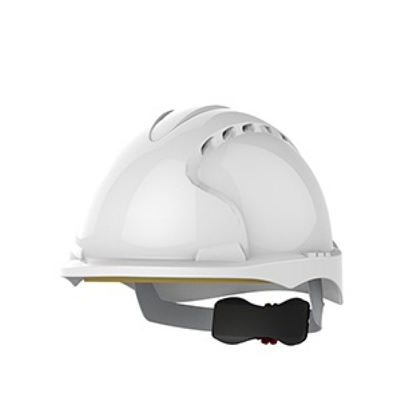 JSP EVO 3 Micro Peak Wheel Ratchet White Vented Helmet