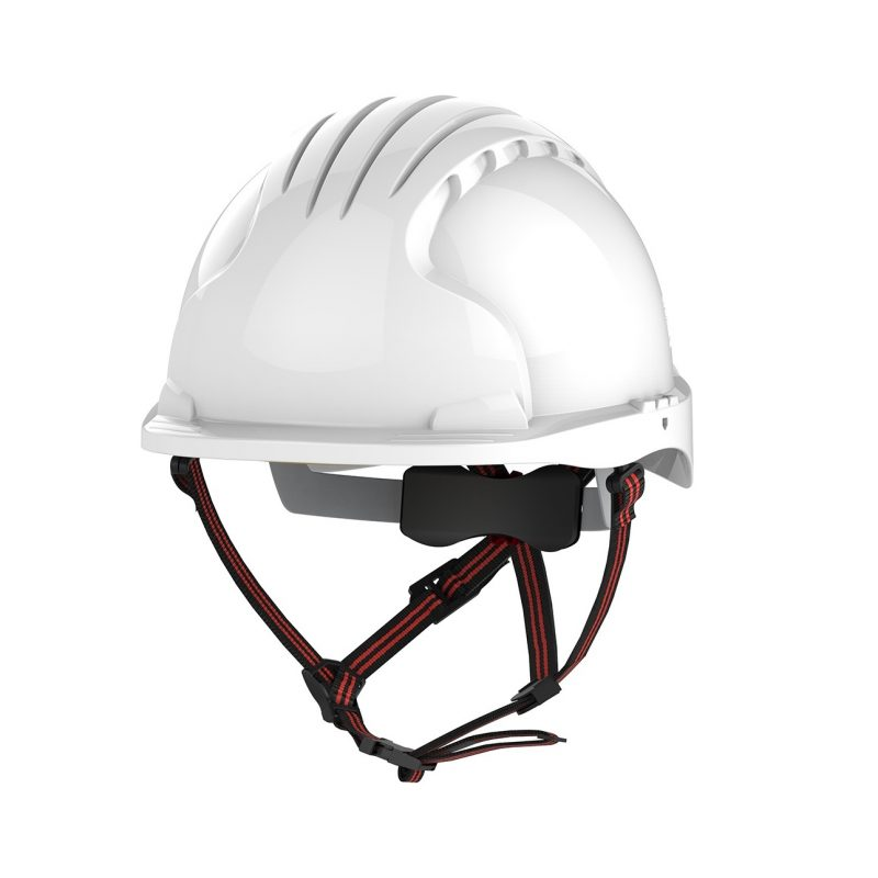 JSP EVO 5 Dualswitch Industrial & Climbing White Vented Helmet
