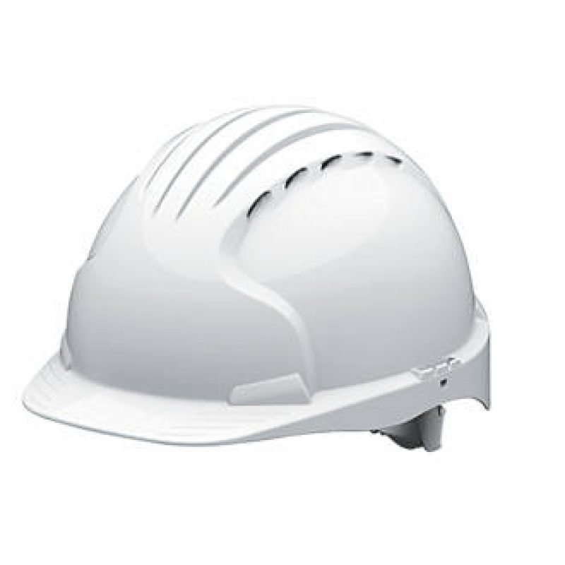 JSP EVO 5 Olympus Wheel Ratchet White Vented Helmet
