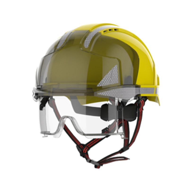 JSP EVO VISTAlens Dualswitch Yellow-Smoke Vented Helmet