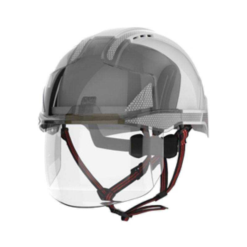 JSP EVO VISTAshield Dualswitch White-Smoke Vented Helmet