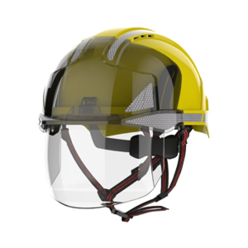 JSP EVO VISTAshield Dualswitch Yellow-Smoke Vented Helmet