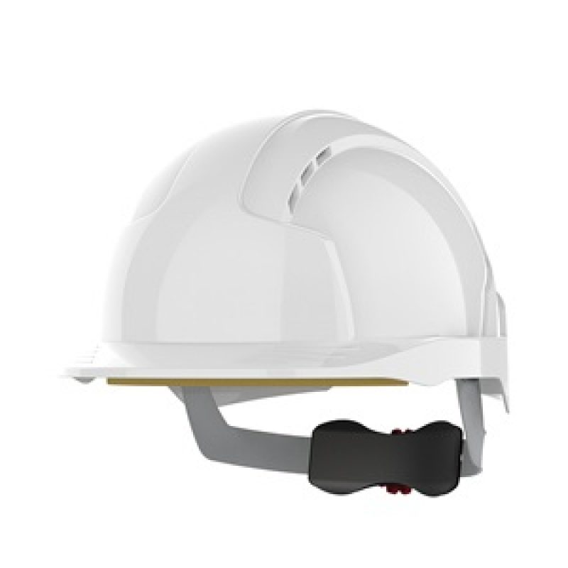 JSP EVOLite Wheel Ratchet White Vented Helmet
