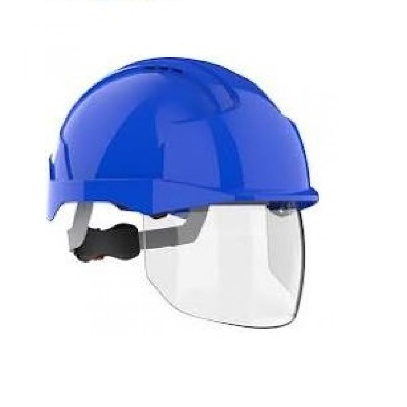 JSP EVO VISTAshield Blue-Blue Vented Helmet
