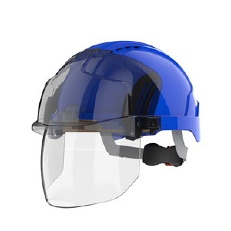 JSP EVOVISTAshield Blue-Smoke Vented Helmet