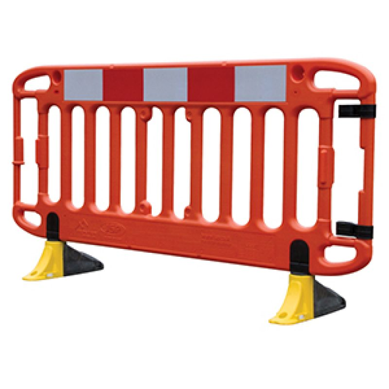 JSP Frontier 2M Traffic Barrier Anti-Trip Yellow Feet - Orange