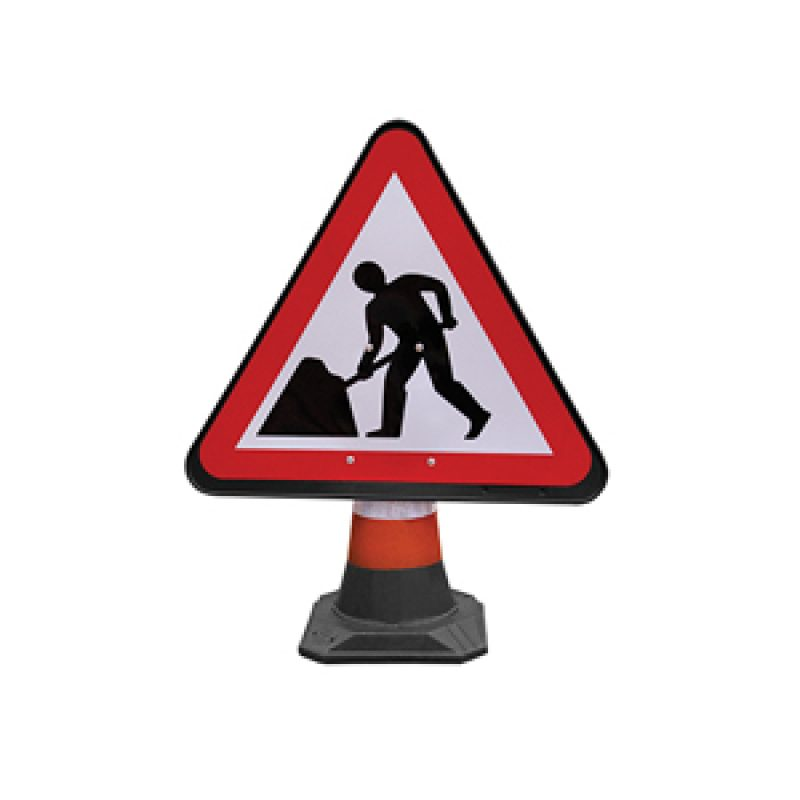 JSP PortaCone - Black Road Works Sign