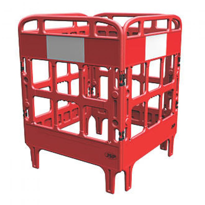 JSP Portagate 4 Gate Compact Barrier - Red