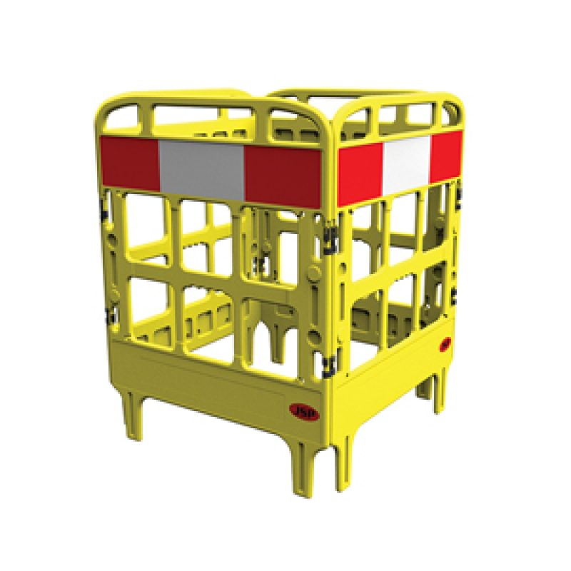 JSP Portagate 4 Gate Compact Barrier - Yellow