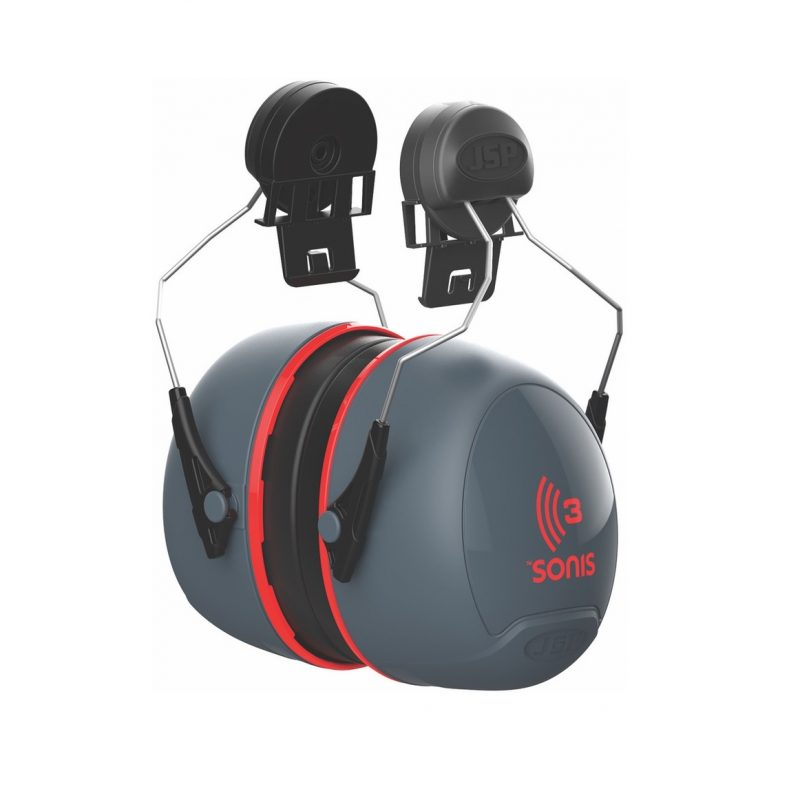 JSP Sonis 3 Helmet Mounted Ear Defenders 36db SNR