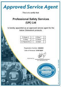 Professional Safety Service UK Ltd Authorised Service Centre Certificate.JPEG